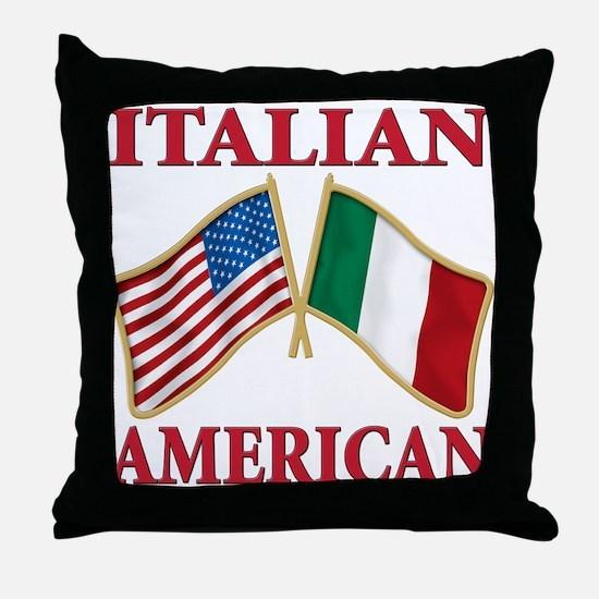 Italian american Pride Throw Pillow