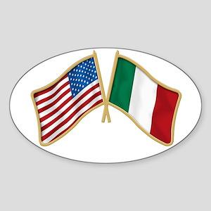 Italian american Pride Oval Sticker