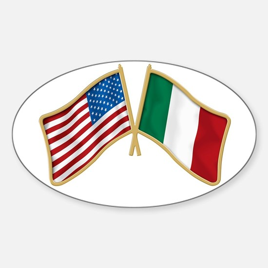 Italian american Pride Oval Decal