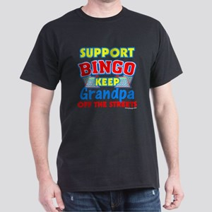 Support Bingo Grandpa Dark T-Shirt