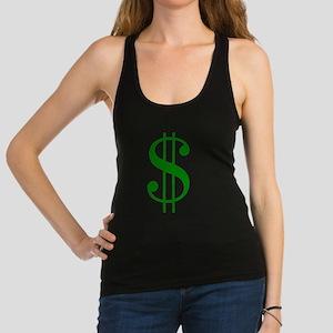 $ green dollar sign Tank Top