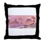 Karst Mountains Throw Pillow