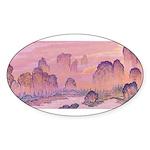 Karst Mountains Oval Sticker