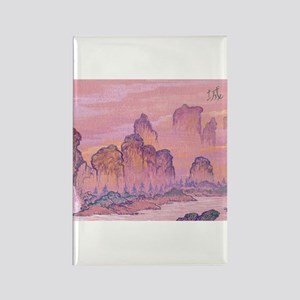 Chinese Scene Rectangle Magnet