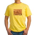 Chinese Scene Yellow T-Shirt
