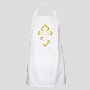 Orthodox Bottony Cross BBQ Apron