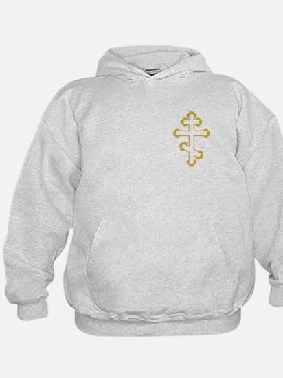 Orthodox Bottony Cross Hoodie