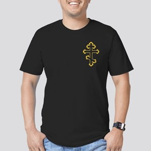 Orthodox Bottony Cross Men's Fitted T-Shirt (dark)