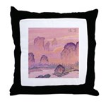 Chinese Waterfall Throw Pillow