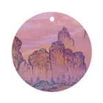 Chinese Scape Ornament (Round)