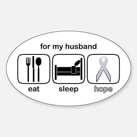 Husband ESHope Lung Oval Decal