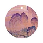 Chinese Mountains Ornament (Round)