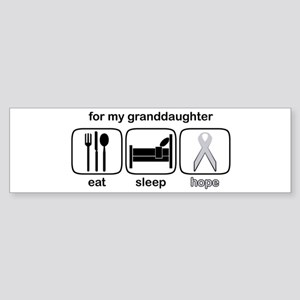 Granddaughter ESHope Lung Bumper Sticker