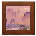 Chinese Sunrise Framed Tile