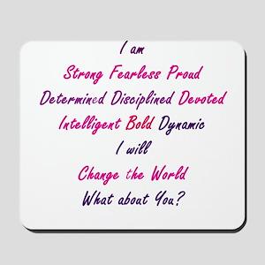 I Am Strong Mousepad