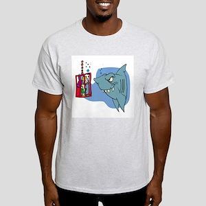 Here Fishy Fishy! Ash Grey T-Shirt