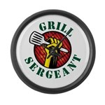 Grill Sergeant Large Wall Clock