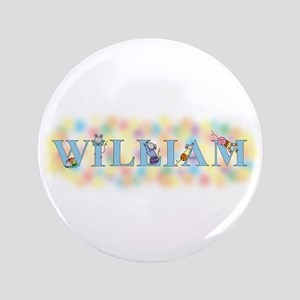 """William"" with Mice 3.5"" Button"