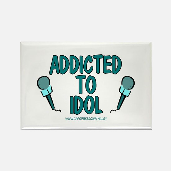 Addicted To Idol Rectangle Magnet