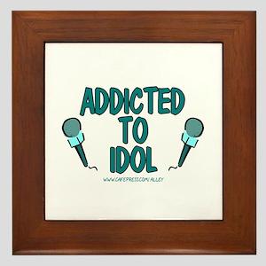 Addicted To Idol Framed Tile