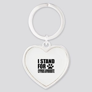 I Stand For Cyprus Aphrodite Cat De Heart Keychain