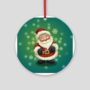 Happy Little Santa Ornament (Round)
