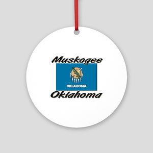 Muskogee Oklahoma Ornament (Round)