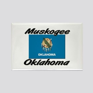 Muskogee Oklahoma Rectangle Magnet