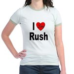I Love Rush (Front) Jr. Ringer T-Shirt