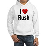 I Love Rush (Front) Hooded Sweatshirt