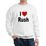 I Love Rush (Front) Sweatshirt