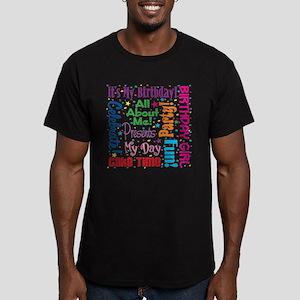 It's My Birthday Men's Fitted T-Shirt (dark)