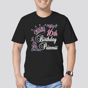 16th Birthday Princess Men's Fitted T-Shirt (dark)
