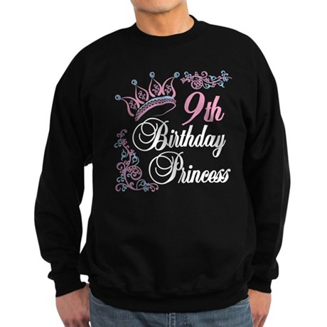 9th Birthday Princess Sweatshirt (dark)