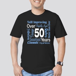 Over 50 years, 50th Birthday Men's Fitted T-Shirt