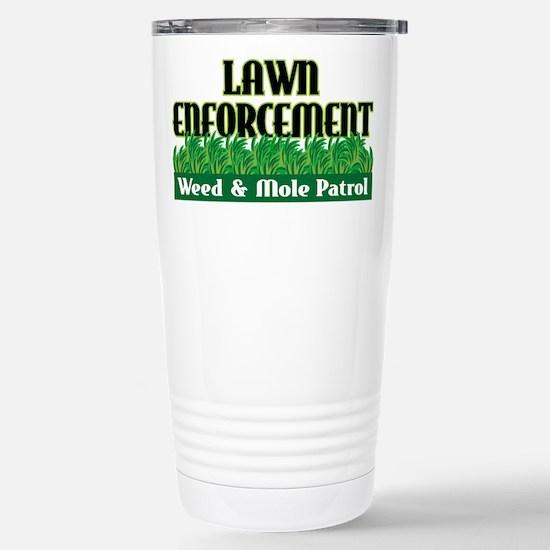 Lawn Enforcement Stainless Steel Travel Mug