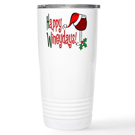 Happy Wineydays Stainless Steel Travel Mug