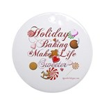 Holiday Baking Ornament (Round)