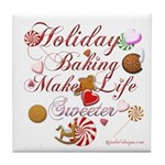 Holiday Baking Tile Coaster