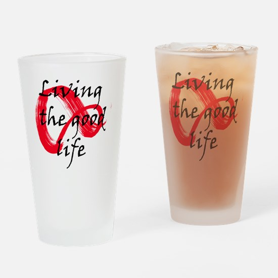 Funny Life is good womens running Drinking Glass