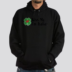 Kiss Me I'm Italian Hoodie (dark)