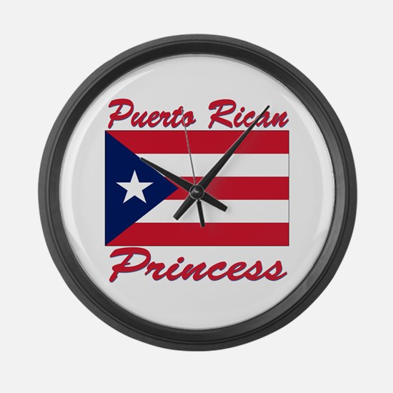 Puerto rican pride Large Wall Clock