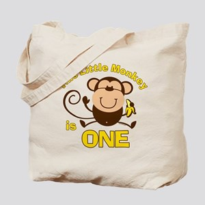 Little Monkey 1st Birthday Boy Tote Bag