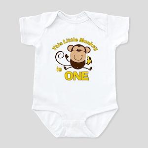 Little Monkey 1st Birthday Boy Infant Bodysuit