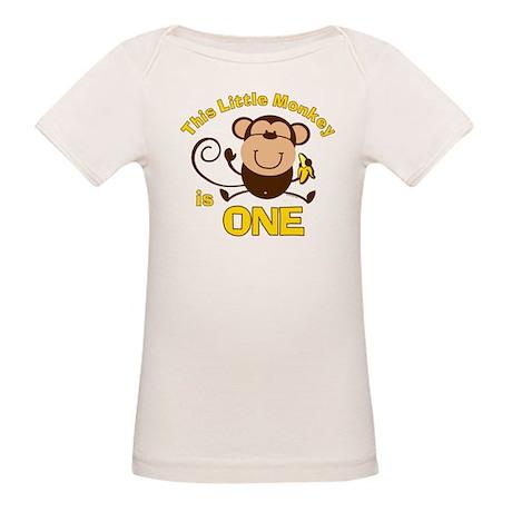 Little Monkey 1st Birthday Boy Organic Baby T-Shir