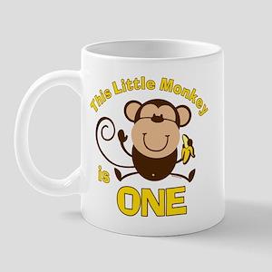 Little Monkey 1st Birthday Boy 11 oz Ceramic Mug