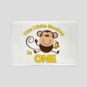Little Monkey 1st Birthday Boy Rectangle Magnet