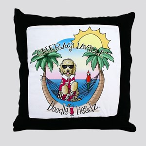 DoodleHeadz Logo Throw Pillow