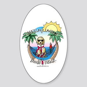 DoodleHeadz Logo Oval Sticker