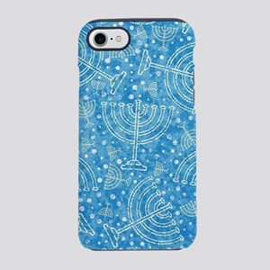Hanukkah Menorah Pattern iPhone 7 Tough Case